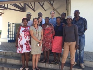 Scott Hazelhurst, Ami Bhatt & Fiona Tamburini (Stanford) with MRC/Wits-Agincourt Community Advisory Group members